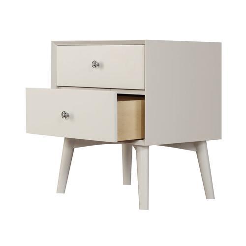 2 Drawer Nightstand-white