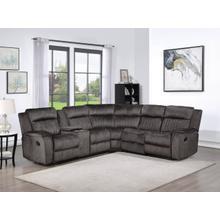 See Details - 8171 DARK GRAY Fabric Reversible Sectional Sofa Manual Recliners