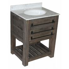 Reclaimed Pine 1-Drawer Narrow Vanity
