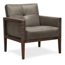 Carverdale Leather Club Chair w/Wood Frame