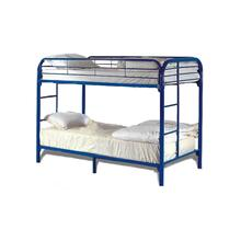 7540 BLUE Metal Bunk Bed