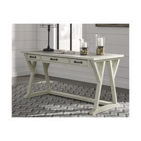 See Details - Jonileene Home Office Large Leg Desk White/Gray