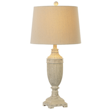 Antiqued Ivory Ribbed Table Lamp. 60W Max. (CB173196) (4 pc. assortment)