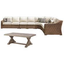 3-piece Outdoor Sectional With Chair and Coffee Table