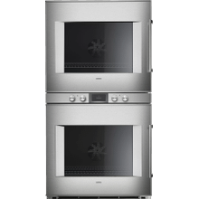 400 Series Double Oven 30'' Door Hinge: Left, Door Hinge: Left, Stainless Steel Behind Glass