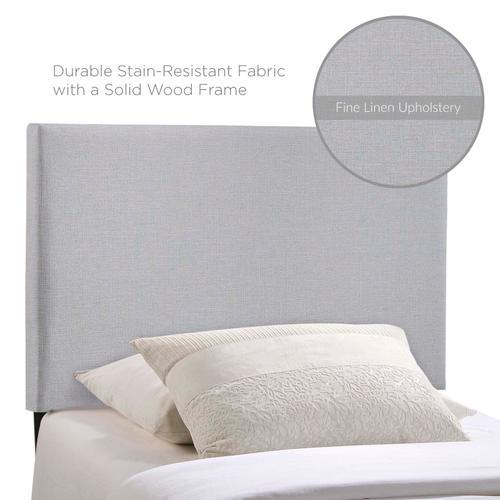 Region Twin Upholstered Fabric Headboard in Sky Gray