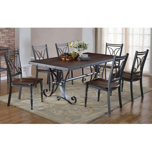 American Wholesale Furniture - Table & 6 Chairs