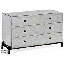 glomise & bronze iron large chest of drawers