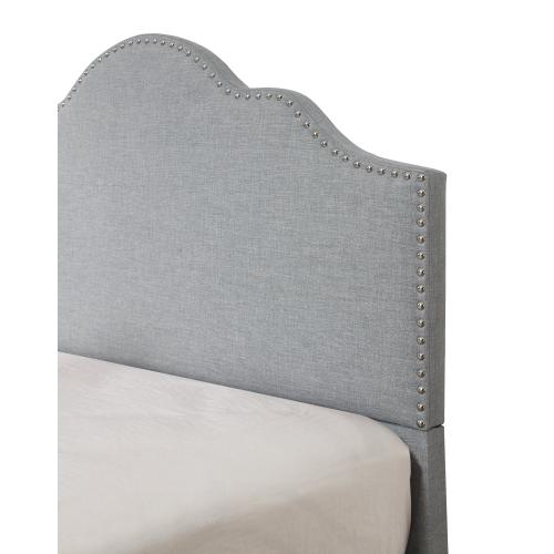 Emerald Home Madison Upholstered Bed Kit Cal King Light Gray B131-13hbfbr-03-my
