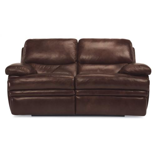 Product Image - Dylan Leather Reclining Loveseat without Chaise Footrests