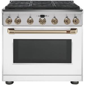 "Café 36"" Dual-Fuel Professional Range with 6 Burners (Natural Gas) Product Image"
