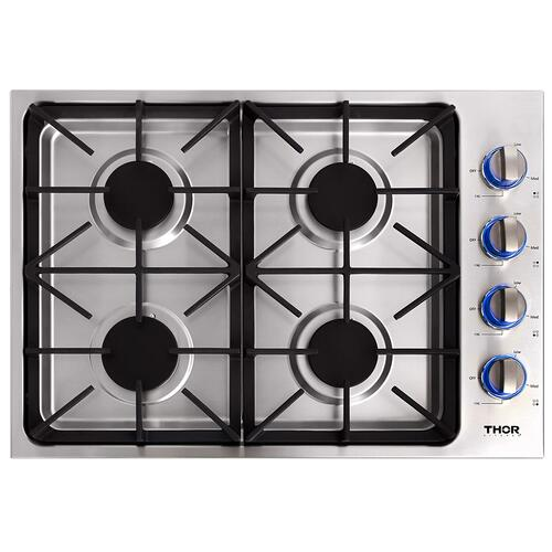 Thor Kitchen - 30 Inch Professional Drop-in Gas Cooktop With Four Burners In Stainless Steel