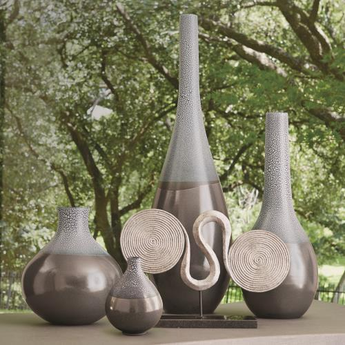Eggshell Vase-Grey/Blue-Mini