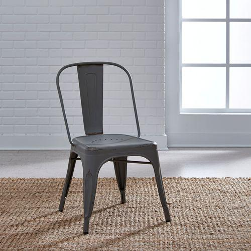Bow Back Side Chair - Grey