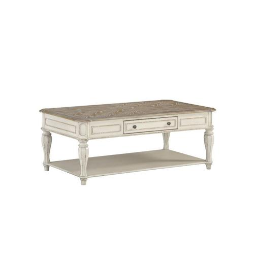 Gallery - Stevenson Manor Coffee Table with Casters, Distressed White
