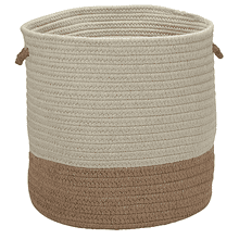 "Sunbrella Coastal Basket AS99 Alpaca 15"" X 16"""