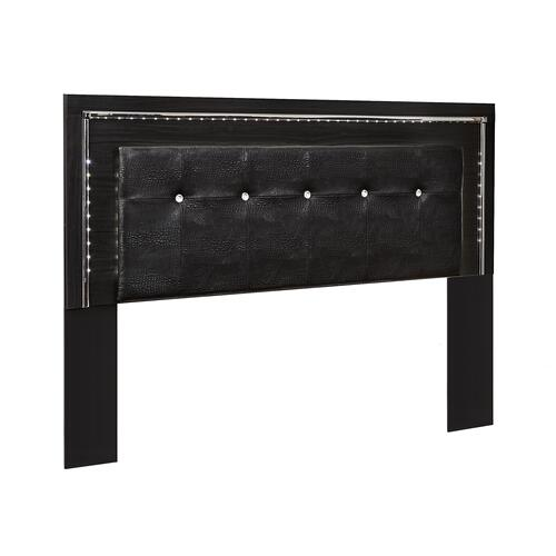 King/california King Upholstered Panel Headboard With Mirrored Dresser