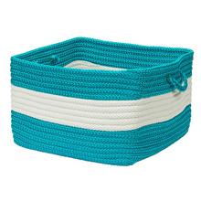 "Rope Walk Basket CB92 Turquoise 14"" X 10"""