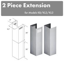 "See Details - ZLINE 2-36"" Chimney Extensions for 10 ft. to 12 ft. Ceilings (2PCEXT-KB/KL2/KL3)"