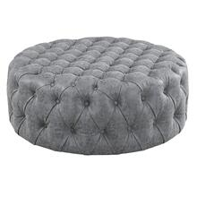 "Emerald Home Bridget U3839-22-03 39""rnd Ct Ottoman - Gray"