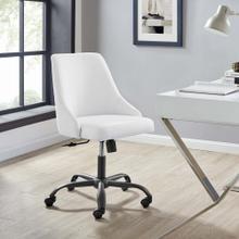 Designate Swivel Upholstered Office Chair in Black White