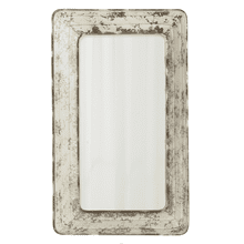 Distressed White Galvanized Rectangle Wall Mirror