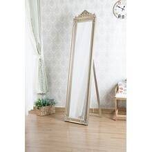 7055 CHAMPAGNE Full Length Standing Crown Mirror