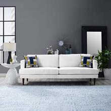 Agile Upholstered Fabric Sofa in White