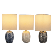 Faux Marble Accent Lamp. 40W Max. (3 pc. ppk.)