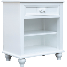 Fishtail White Shelf Nightstand
