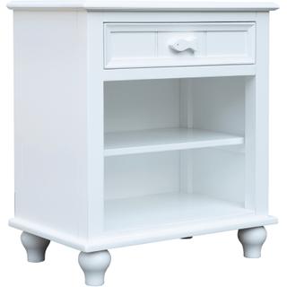 Fishtail White Shelf Nightstand