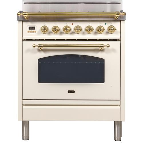 30 Inch Antique White Natural Gas Freestanding Range