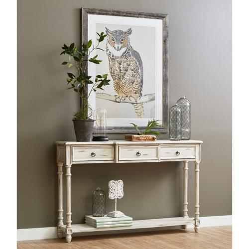 Three Drawer White Entryway Console