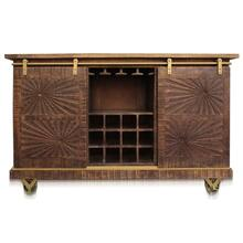 WINSOR WINE BUFFET  63in w. X 40in ht. X 18in d.  Solid Mango Wood Sideboard Wine Bar with Two Sli