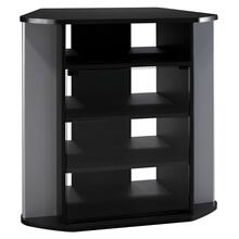 Visions Entertainment Tall Corner TV Stand - Black