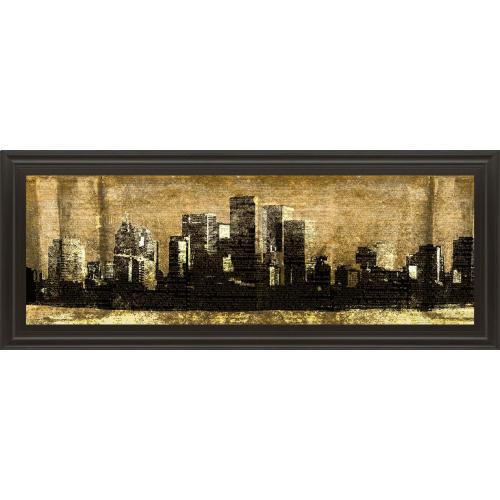 """Classy Art - """"Defined City Il"""" By Sd Graphic Studio Framed Print Wall Art"""