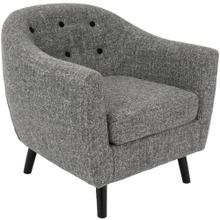 Rockwell Accent Chair - Black Wood, Dark Grey Noise Fabric