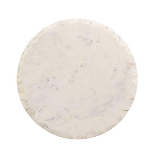 Tov Furniture - Orbital White Marble Side Table