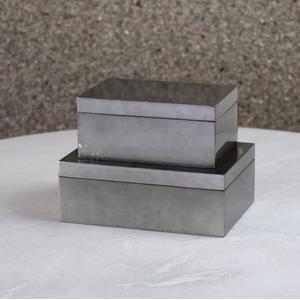 Gunmetal Silver Leaf Box-Sm