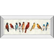 """The Usual Suspects - Birds On A Wire "" By Avery Tillmon Mirror Framed Print Wall Art"