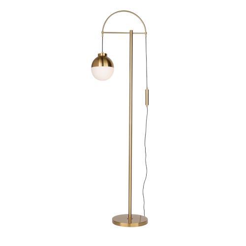 Artcraft - CORTINA BRASS FLOOR LAMP