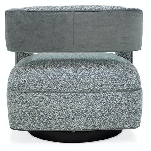 Living Room Mateo Swivel Chair - Wood Base