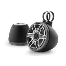 View Product - 6.5-inch (165 mm) Enclosed Coaxial System, Matte Black Enclosure, Gunmetal Trim Ring, Titanium Sport Grille