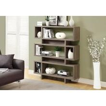 """See Details - BOOKCASE - 55""""H / DARK TAUPE MODERN STYLE"""