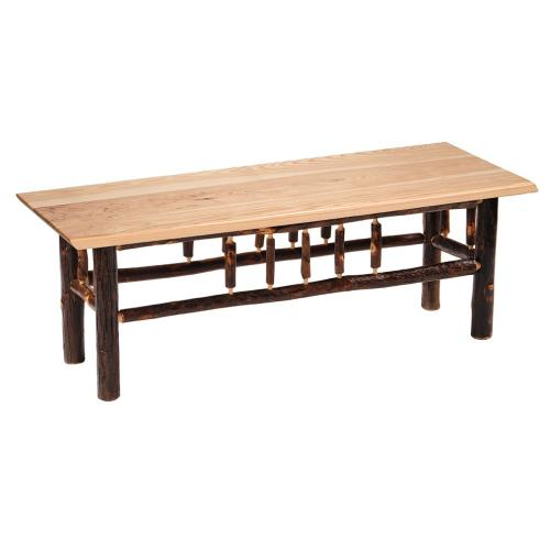 Bench - 60-inch - Cognac - Wood seat