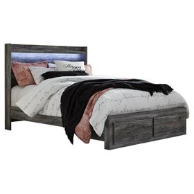 See Details - Baystorm Queen Panel Bed With 2 Storage Drawers