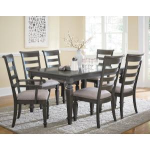 Standard Furniture - Garrison 2-Pack Upholstered Side Chairs, Burnished Grey