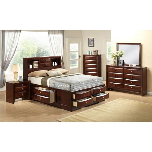 Emily Storage Bedroom - Emily Full Storage Bed, Dresser, Mirror, Chest, and Night Stand