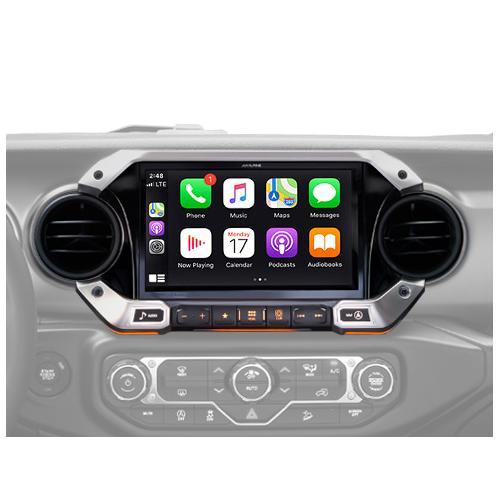 9-Inch Weather-Resistant Navigation System with Off-Road Mode for the New 2018 Up Jeep Wrangler and 2020 Jeep Gladiator