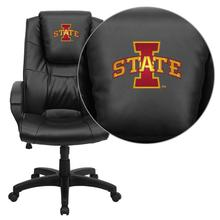Iowa State University Cyclones Embroidered Black Leather Executive Office Chair